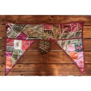 Indian patchwork valance